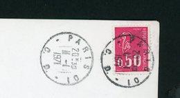 """FRANCE -  BEQUET 0,50 ROUGE  N° Yt 1664 CACHET """" PARIS 01 C.D. """" DU 11/1/1971 (Controle Douanier) - Marcofilie (Brieven)"""