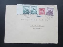 Tschechoslowakei 17.12.1939 Böhmen Und Mähren MiF Mit Nr. 406 Mit Blaustift Beanstandet!! Prag - Wien - Tschechoslowakei/CSSR