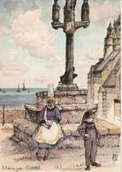 ST GUENOLE NDde La Joie Aquarelle De Robert Lepine 362G - Autres Communes