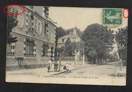 Cabourg  -  Poste Et Rue De La Mer - CPA Calvados - Normandie - Quelques Défauts Bien Lire Descriptif - Cabourg