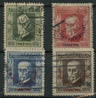 Tchecoslovaquie (1926) N 209 A 212 (o) - Oblitérés