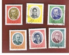 ITALIA REPUBBLICA  - UNIF. 1313.1318   -  1975  ARTISTI ITALIANI -   USATO - 6. 1946-.. República