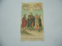 SANTINO   HOLY CARD S.VITALE VALERIA GERVASIO E PROTASIO. - Religione & Esoterismo