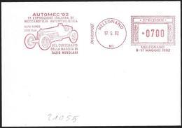 Italia/Italy/Italie: Ema, Meter, Specimen, T. Nuvolari, Antica Auto Da Corsa, Ancient Racing Car, Voiture De Course Anci - Affrancature Meccaniche Rosse (EMA)