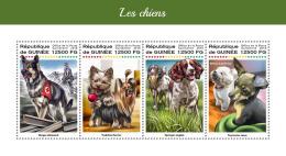 Z08 IMPERF GU18203a Guinea Guinee 2018 Dogs MNH ** Postfrisch - Guinea (1958-...)