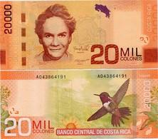 COSTA RICA       20,000 Colones       P-278b       19.9.2012 (2016)        UNC  [ 20000 ] - Costa Rica
