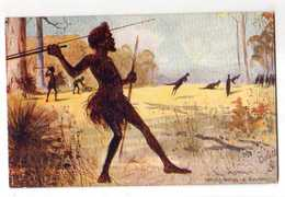 AUSTRALIA ,Raphael Tuck & Sons  Oilette, Natives Hunting The Kangaoos - Aborigènes