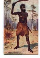 AUSTRALIA ,Raphael Tuck & Sons  Oilette, Native Throwing A Boomerang - Aborigènes