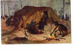 AUSTRALIA ,Raphael Tuck & Sons  Oilette, Native Wurley - Aborigènes