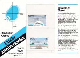 NAURU 1979 Flight Anniv Pack - Nauru
