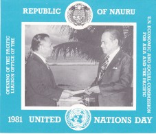NAURU 1981 United Nations Day Stamp Pack - Nauru