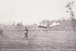 Aviation       H104       M Santos Dumont Volant à 2 M à Bagatelle ( REPRO ) - Aviadores