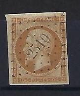 "FR YT 13B "" Napoléon III 10c. Brun Clair "" 1860 PC 2510 PONT-EN-ROYANS - 1853-1860 Napoleon III"