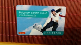 Sratch & Phone Belgacom 10 Euro (Mint,Neuve) 2 Scans Rare - [2] Prepaid & Refill Cards