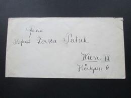 Jugoslawien 1925 Kronprinz Alexander MiF Mit 10 Marken Rückseitig Frankiert! Nach Wien Hofrat Patsch - 1919-1929 Königreich Der Serben, Kroaten & Slowenen
