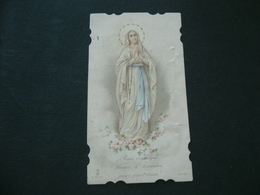 SANTINO  HOLY CARD  MADONNA DI LOURDES. - Religion & Esotericism