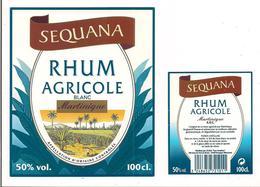 Etiquette  Rhum   Agricole Blanc Martinique - SEQUANA - ( L.R.M.D = Monoprix ) - Rhum