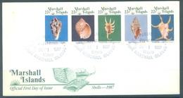 MARSHALL - 1.9.1987 - FDC - SHELLS  - Mi 134-138 Yv 156-160 - Lot 16788 - Marshall