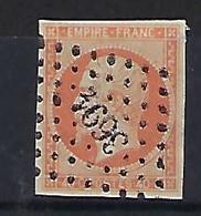 "FR YT 16 "" Napoléon III 40c. Orange "" 1853 PC 3691 WESSERLING - 1853-1860 Napoleon III"