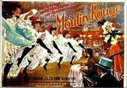 Moulin Rouge  - Jose Ferrer - ZSA  Gabor - John Huston - Edit. François Nugeron (non écrite Au Dos) - Danse
