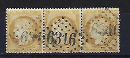 """FR YT 59 Triptyque """" Cérès 15c. Bistre """" 1871 GC 6316 LYON-LES-TERREAUX - 1871-1875 Cérès"""