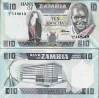 Zambia 1980-1988 ND - 10 Kwacha - Pick 26 UNC - Zambie