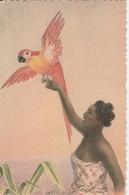 Madagascar Exposition Coloniale Internationale De Paris 1931 Madagascar Femme Au Perroquet 380G - Madagascar