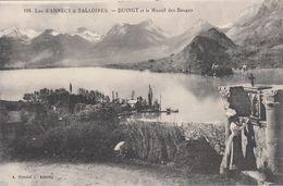 Cp , 74 , LAC D'ANNECY à TALLOIRES-DUINGT Et Le Massif Des Bauges - Annecy