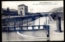 Cpa Du 01 Sault Brénaz Les écluses Et Le Canal De Dérivation Du Rhône   Avril18-12 - Autres Communes