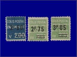 FRANCE Colis Postaux Yvert:124/26, 3 Valeurs. (Maury 114/16)      - Qualité: XX . Cote: 330 - Parcel Post