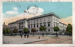 U.S MINT HOUSE-17 TH AND SPRINGS GARDEN STREETS-PHILADELPHIA- VIAGGIATA-1924 - Philadelphia