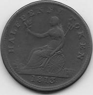 Grande Bretagne - Half Penny - 1813 - 1662-1816 : Anciennes Frappes Fin XVII° - Début XIX° S.