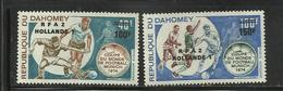 Foot Ball Soccer** MNH Munich 74 Dahomey PA 221/22  Coupe  Du Monde 1974 (surcharge ) - World Cup