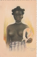 Madagascar Exposition Coloniale Internationale De Paris 1931 Jeune Fille Au Coquillage 383G - Madagascar