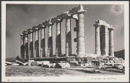 Le Temple, Sunion, C.1950s - ΥΔΑΠ Photo CPSM - Greece