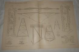 Plan Du Viaduc Du Viaur. Sur La Ligne De Carmaux à Rodez. 1903 - Public Works