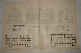 Plan D'une Maison De Santé à Roscoff Dans Le Finistère. M. De Montarnal, Architecte. 1903 - Public Works