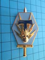 """Superbe Insigne """"pucelle"""" REGIMENT DE TRANSMISSIONS  Par ARHUS BERTRAND  Pour EDITIONS ATLAS - Landmacht"""