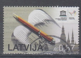 Latvia 2015 Mi 945 Used Day Of Press - Lettonie