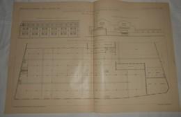 Plan Des Nouveaux Ateliers De La Société L'Eclairage électrique, 364, Rue Lecourbe à Paris. 1903. - Public Works