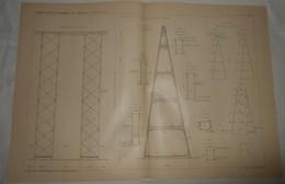 Plan Du Viaduc De Kinzua Aux Etats Unis. 1903. - Public Works