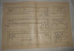 Plan Du Laboratoire D'Hydraulique Fluviale De Carlsruhe. 1903. - Public Works