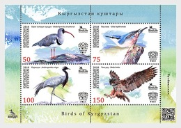 Kirgizië / Kyrgyzstan - Postfris / MNH - Sheet Vogels 2018 - Kirgizië