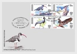 Kirgizië / Kyrgyzstan - Postfris / MNH - FDC Vogels 2018 - Kirgizië