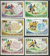 Foot Ball Soccer** MNH Munich 74 Haute Volta 329/31 + PA 180/82 Coupe  Du Monde 1974 - Coppa Del Mondo