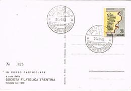 28741. Tarjeta TRENTO 1966. Festival FILM, Cine . Francobollo Di Montagna - 6. 1946-.. Republic