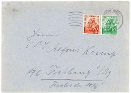 Nr. 106 - 107 Fernbrief 1949 - Bizone