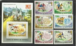 Foot Ball Soccer** MNH Munich 74 Haute Volta 329/31 + PA 180/82  + BF 5Y Coupe  Du Monde 1974 - 1974 – Germania Ovest