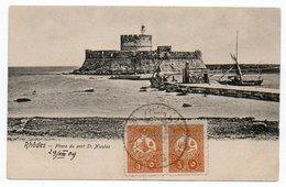 GREECE - RHODES/RODI-PHARE DU PORT ST.NICOLAS / TURKISH POST OFFICE CANCEL RHODES - Greece