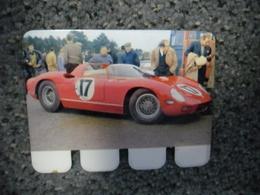 N° 68 - PLAQUE METAL En TOLE FERRARI De John Surtees 370 CV LE MANS De 1964 - AUTOMOBILE COOP Des Années 60 - Advertising (Porcelain) Signs
